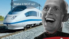 For years now,we've been asking why on Earth Rick Scott would turn down $2.4 billion in high-speed rail. Finally we're starting to get answers. Scott said no to high-speed rail in order to cut out competition for a private company with strong ties to his chief of staff Adam Hollingsworth. Scott's showing his true colors once again. He put special interests and personal connections above real Floridians. Scott has got to go. Source: Charlie Crist