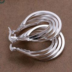 925-sterling-silver earrings , 925 jewelry silver plated fashion jewelry , Four Ring Earrings E157 /cimakzta dzuamrba