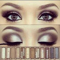 Silver Smoky Eye Using Urban Decay's Naked Pallette... Perfect for a Glamorous…