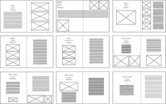 The vector versions of my original hand-drawn InDesign layouts. Before I apply the layout practices into the actual InDesign software, I wo. Grid Layouts, Indesign Layouts, Indesign Software, Adobe Indesign, Magazine Design Inspiration, Layout Inspiration, Book Layout, Page Layout, Free Indesign Magazine Templates