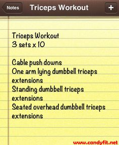 how to get cut triceps
