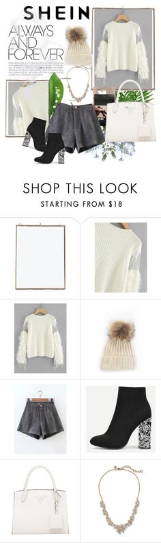 """""""Shein.Mesh contrast sweater"""" by c-sof ❤ liked on Polyvore featuring NKUKU"""