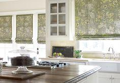 natural fabric window coverings | Choosing Custom Window Treatments - Roman Shades