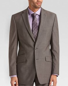 Calvin Klein Gray Check Slim Fit Suit - Modern Fit (Trim)   Men's Wearhouse