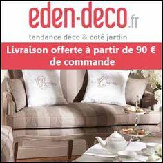 #missbonreduction; Livraison gratuite dès 90€ de commande chez Eden Deco pour toute livraison en France Métropolitaine. http://www.miss-bon-reduction.fr//details-bon-reduction-Eden-Deco-i852556-c1813296.html