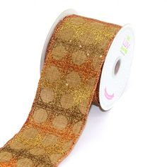 LUV RIBBONS by Creative Ideas 2-1/2-Inch Canvas Glitz Diamond Ribbon, 10-Yard, Brown * Click on the image for additional details.