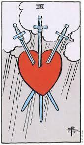 Three of Swords Tarot Card Meanings - TarotWikipedia
