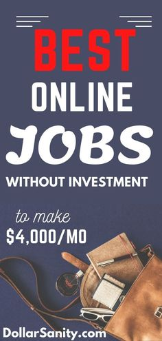 Online jobs to make money from home without investment. Ways To Earn Money, Earn Money From Home, Earn Money Online, Way To Make Money, Best Online Jobs, Online Jobs From Home, Work From Home Jobs, Working From Home Meme, Amazon Work From Home