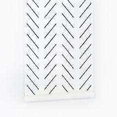 Black Delicate Herringbone Wallpaper | Project Nursery Wallpaper Paste, Home Wallpaper, Fabric Wallpaper, Graphic Wallpaper, Baby Nursery Wallpaper, Wallpaper Ideas, Herringbone Wallpaper, Baby Nursery Neutral, Neutral Nurseries
