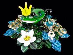The Princes Frog Going Home, Timeless Design, Fairy Tales, Brooch, Christmas Ornaments, Holiday Decor, Gallery, Projects, Image