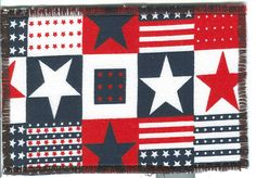 Americana fabric postcard