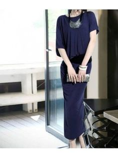 Asymmetrical Sleeved Maxi Dress