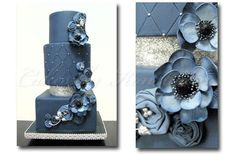 Denim and Diamonds Cake | Pinned by Abbey Collins