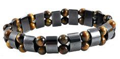 Men  Women Magnetic Therapy Tigers Eye Hematite Bracelet Magnetic Bracelet ** Click image for more details.