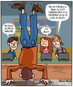 En clave de humor: The Flipped Clasroom. Educa con TIC  #flippedclassroomhumor #claseinvertida #educaconTIC