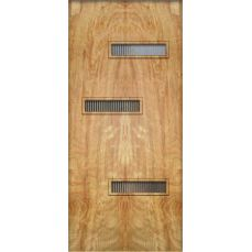 Crestview Doors... you buy a basic mid century modern door and customize it for your house