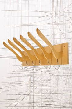 "Hanging Coat Rack at Urban Outfitters. Site says ""This product is not available to view""} Hanging Coat Rack, Coat Hanger, Hanger Rack, Recycled Furniture, Cheap Furniture, Best Clothes Hangers, Luminaria Diy, Furniture Restoration, Furniture Makeover"