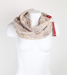 Loop Schal beige mit Muster Passion, Pattern