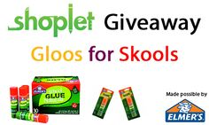 Join us on Twitter today at 3pm for a chance to win a box of Elmer's Glue Sticks! Info: http://blog.shoplet.com/giveaways/win-a-box-of-elmers-glue-sticks/