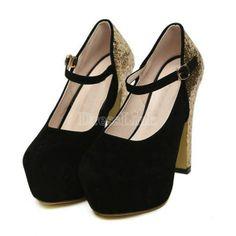 Women High Heel Platform Pumps Shoes Shinning Glitter