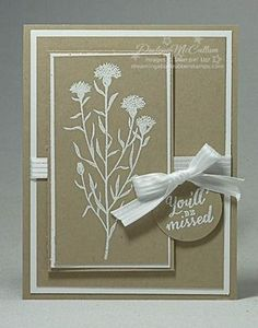 handmade card ... sand and white only ... Wild About Flowers ... from DreamingAboutRubberStamps.com ... Stampin' Up!
