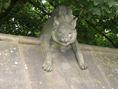 Animal Wall at Cardiff Castle - Hyena by Keith Edkins