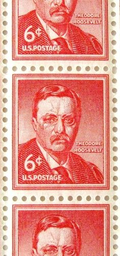 US Stamp - Theodore Roosevelt US President Roosevelt Family, Theodore Roosevelt, President Roosevelt, American Presidents, Us Presidents, Us History, American History, First Class Stamp, Commemorative Stamps