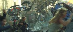 Jazz enfrentando a Megatron al final de #Transformers 1, la película.