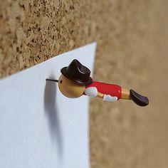 Real Boy Push-Pins By British designer Duncan Shotten.