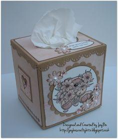 Decorated tissue box