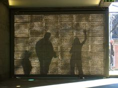 wall made from LiTraCon- translucent concrete embedded with fiber optic strands