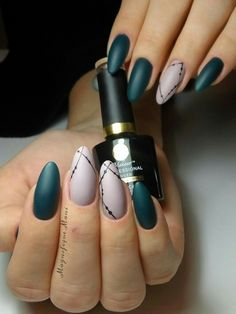 Green Nails #greennails Matte nails