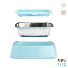 -Martha Stewart Cat Bowls I want this!
