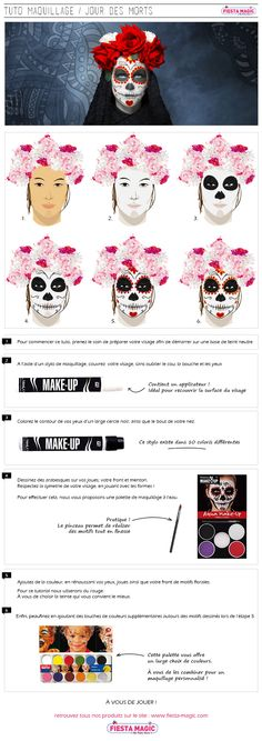 Tutos maquillage halloween : skull catrina sur fêtes and fun