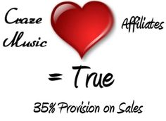 Become an Affiliate of Craze Music - 35% Provision on Sales!
