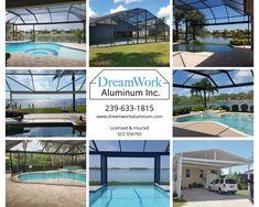 29 Pool Enclosures By Dreamwork Aluminum Ideas In 2021 Pool Screen Enclosure Pool Enclosures Screen Enclosures