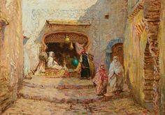 شارع بالجزائر العاصمة Rue à Alger Addison Thomas Millar ,Peintre Américain (1860_1913) #algerie #algeria #alger #peinturedalgerie #art #art #artwork #artofinstgram #paint #painting #oilpainting #الجزائر #الجزائر_المحمية_بالله #تاريخ_الجزائر #التراث_الجزائري #اللباس_التقليدي_الجزائري #لوحات_فنية_جزائرية #لوحات_فنية