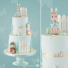 From the walking dead, to Peter rabbit ; Peter Rabbit Cake, Peter Rabbit Birthday, Peter Rabbit Party, 1st Birthday Cakes, 1st Boy Birthday, Birthday Ideas, Bunny Birthday Cake, Baby Boy Christening Cake, Beatrix Potter Cake