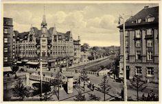 Gliwice :: VintagePostcards-Archive Time Travel, Poland, Paris Skyline, Louvre, Building, Places, Buildings, Construction, Lugares