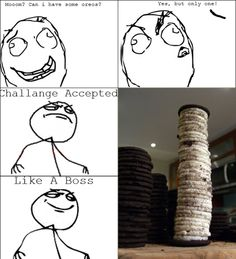 People Only Eat Oreos for the Cream Anyway - Posted in Funny, Troll comics and LOL Images - LOL Heaven
