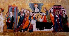 "Tablas de San Millçan. Detalle.  ""La muerte de La Virgen"". Tables of San Millán Detail ""The Death of The Virgin"""