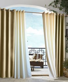 Look at this Khaki Gazebo Grommet-Top Stripe Window Curtain on #zulily today!