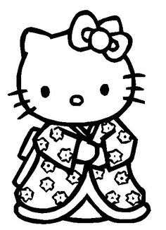 Klik hier om de Hello kitty kleurplaat te downloaden!