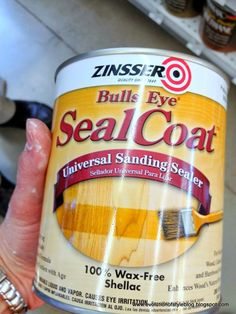 Use when painting oak cabinets to help seal the grain so it won't bleed through the paint - Use after clearning and sanding, before the primer