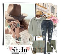 """""""shein"""" by milica-simovic ❤ liked on Polyvore featuring Spell & the Gypsy Collective, WithChic, Keds and Patricia Nash"""