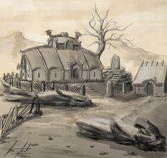 Farmer Chief Longhouse (Thrym's Epitaph) by Trinitydigitaldesign.deviantart.com on @DeviantArt