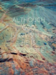 He Is Invincible