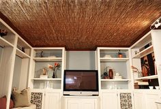 DIY Reed Fence Ceiling
