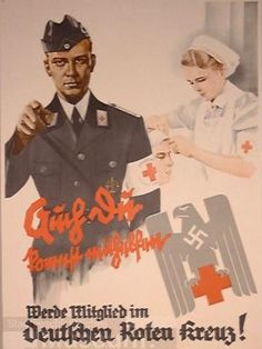 "German WW2 ""Become a member of the German Red Cross"""