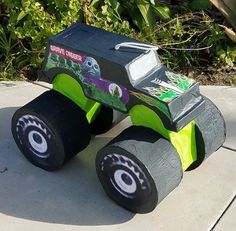 Items similar to Monster Truck Pinata on Etsy Monster Truck Valentine Box, Monster Truck Toys, Monster Truck Birthday, Digger Birthday Parties, 5th Birthday, Kids Art Party, Hot Wheels Party, Valentines For Boys, Grave Digger Cake
